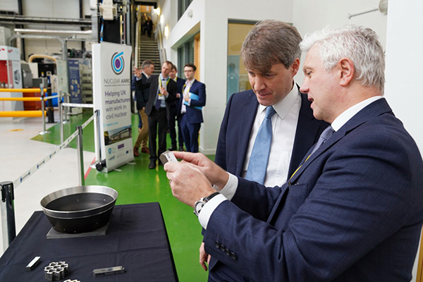 Chris Skidmore and Andrew Storer in the Nuclear AMRC workshop